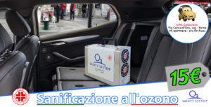 Sanificazione auto ad ozono