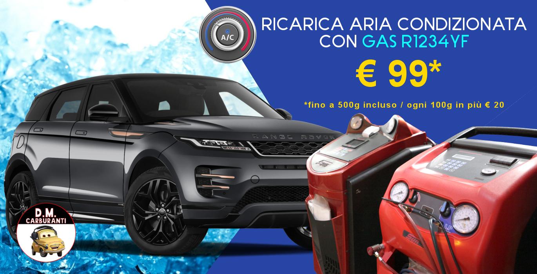 Ricarica aria condizionata auto con gas R1234YF